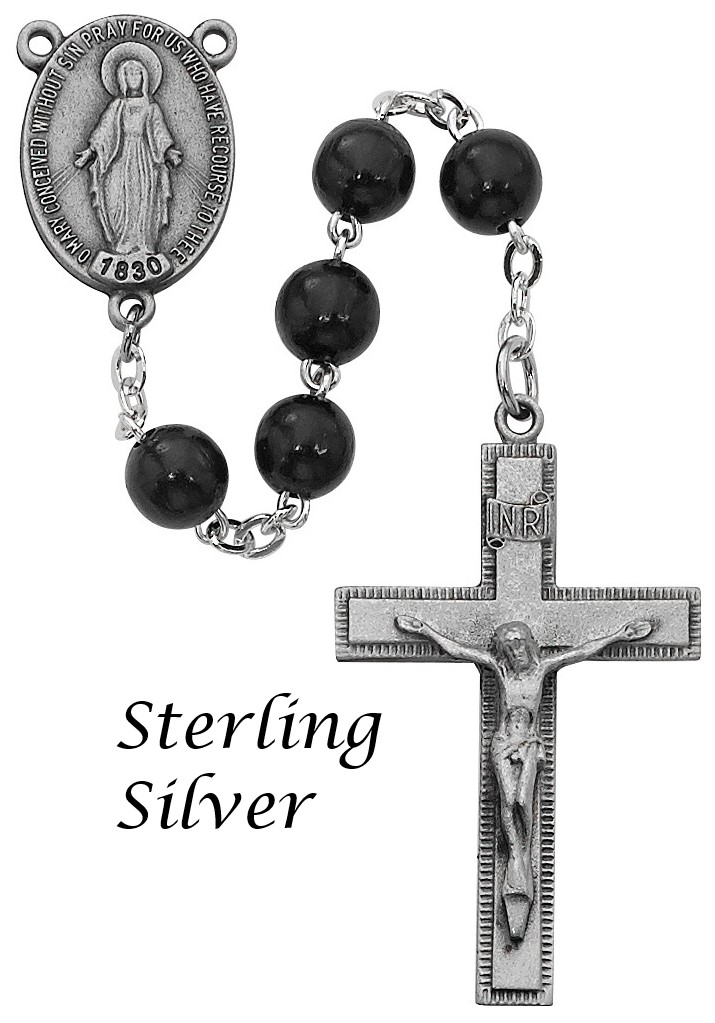 Black Rosary - Style RM434LF