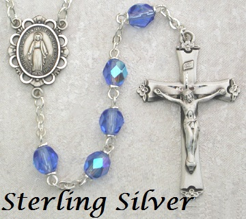 December Birthstone Rosary - Style 8M75LZRF