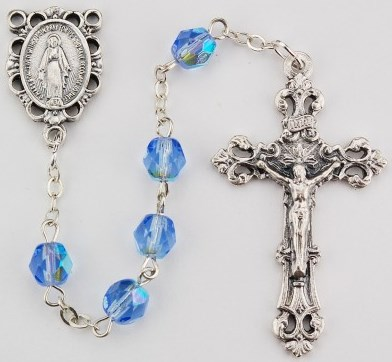 December Birthstone Rosary - Style RM391ZRKF