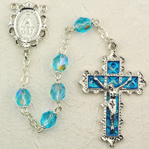 March Birthstone Rosary - Style 8M79AQKF