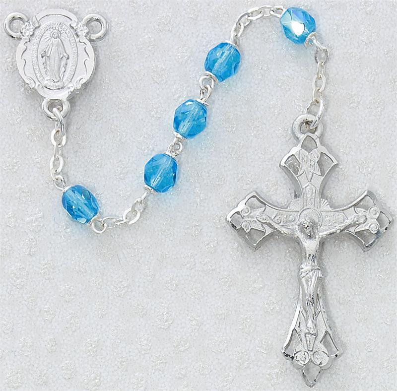 March Birthstone Rosary - Style RM272RF