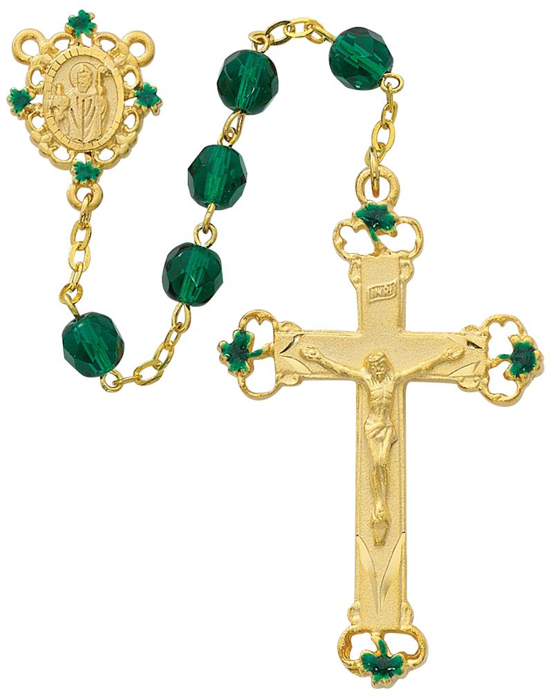 May Birthstone Rosary - Style 1M97HF