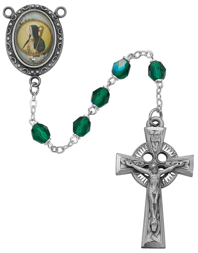 May Birthstone Rosary - Style RM186DF