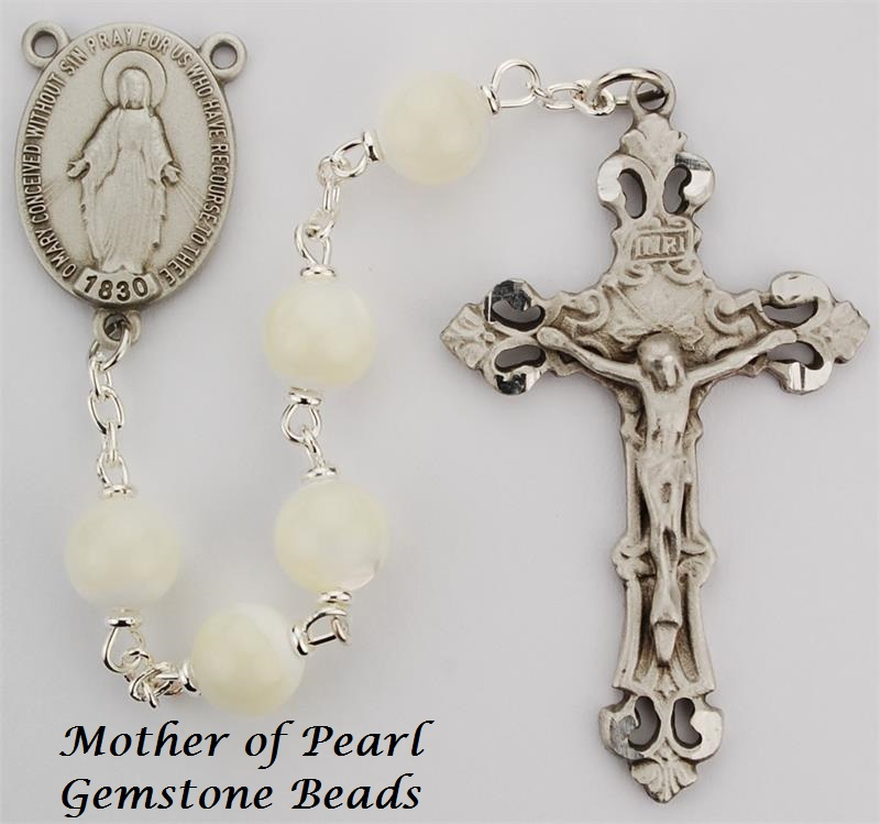 Pearl Rosary - Style 8M41DF