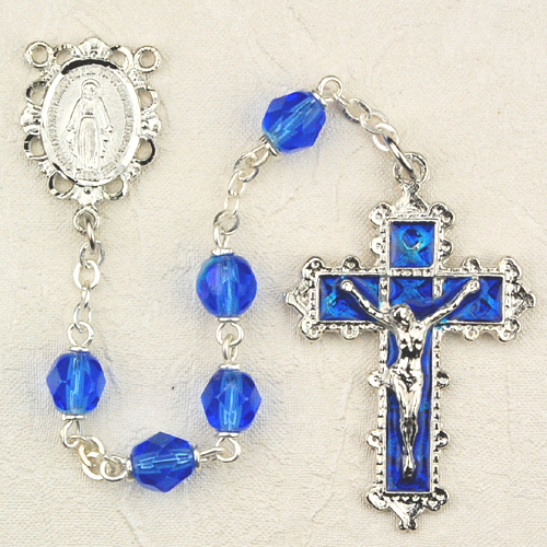 September Birthstone Rosary - Style 8M79BLKF