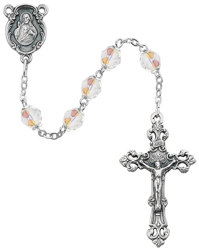April Birthstone Rosary - Style 8M75CRG