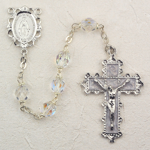 April Birthstone Rosary - Style 8M79CRKF