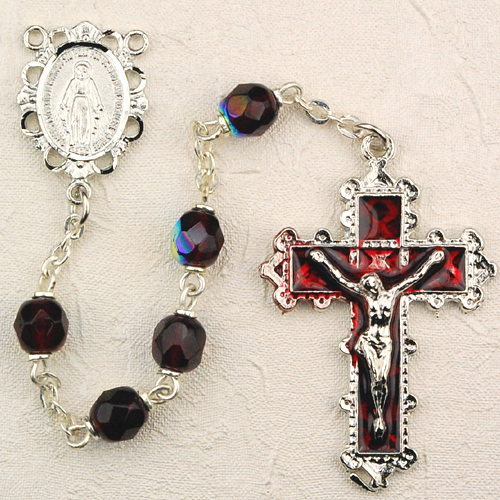 January Birthstone Rosary - Style 8M79GAKF