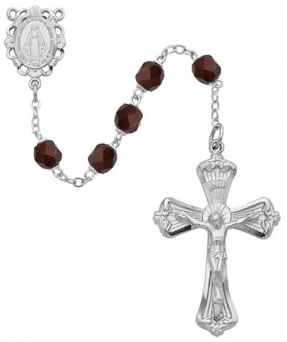 January Birthstone Rosary - Style 8M80GAKF
