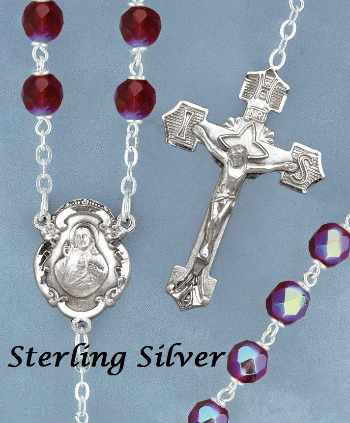 July Birthstone Rosary - Style 2D23SRB