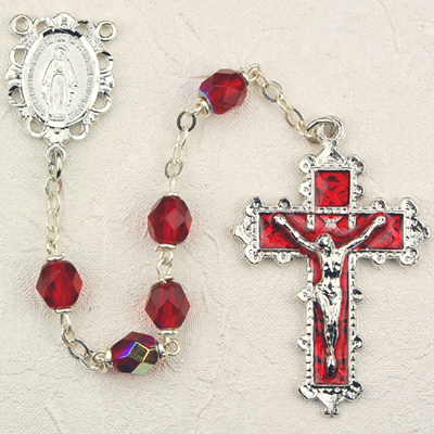 July Birthstone Rosary - Style 8M79RUKF