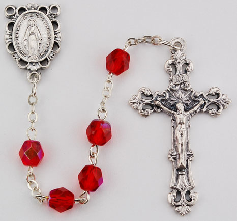 July Birthstone Rosary - Style RM391RUKF