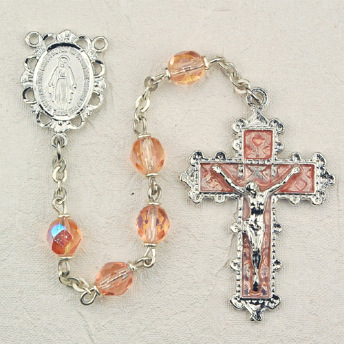October Birthstone Rosary - Style 8M79RSKF