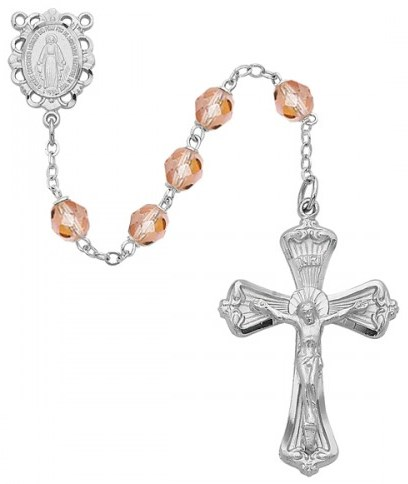 October Birthstone Rosary - Style 8M80RSKF