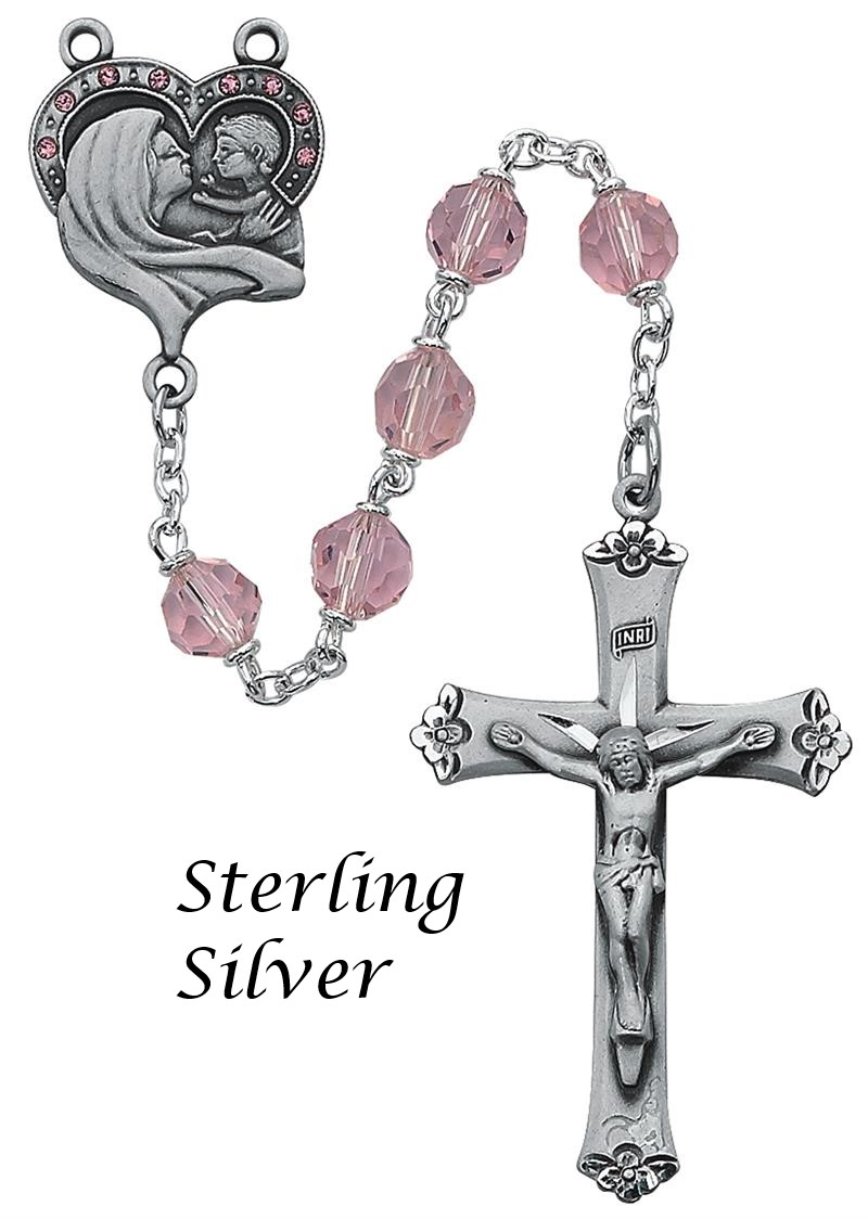 October Birthstone Rosary - Style RM399LF