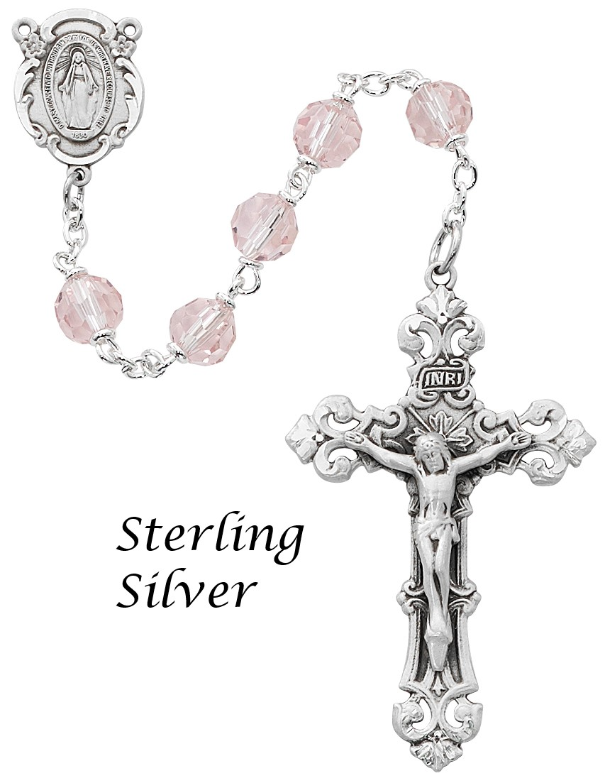 October Birthstone Rosary - Style RM479LF