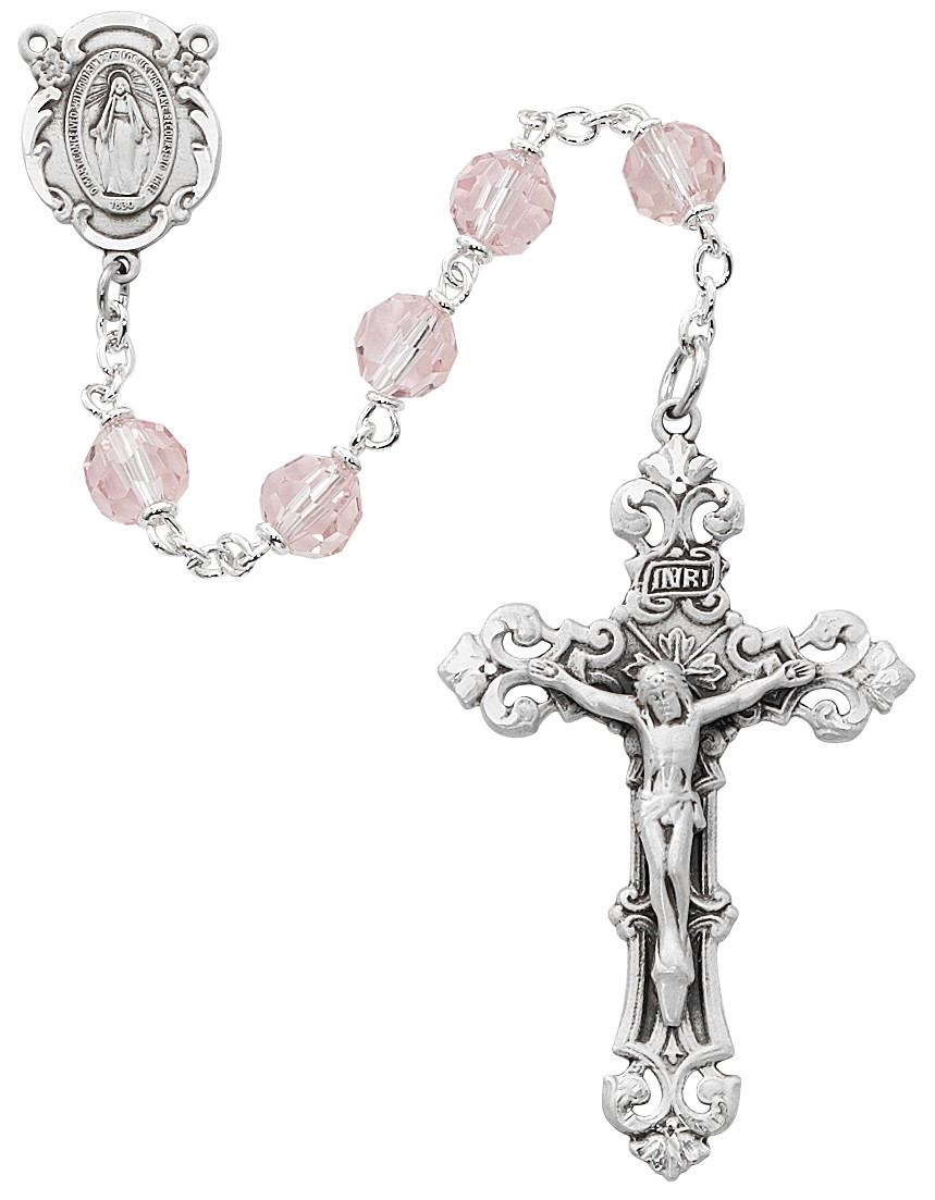October Birthstone Rosary - Style RM479RF